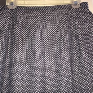 Sag Harbor lined black/ white herringbone skirt 12